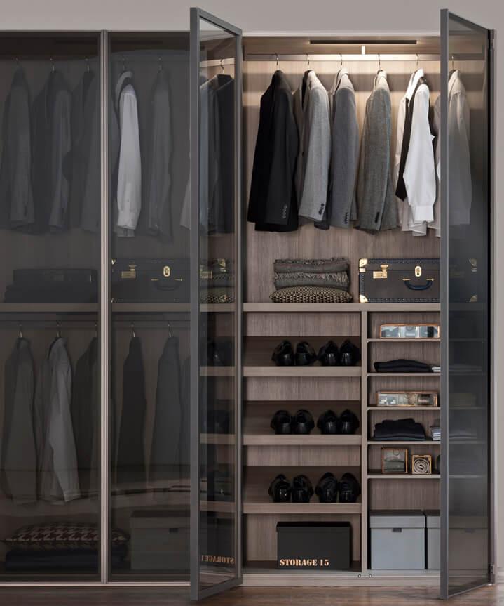 dressing dormitor barbat usa sticla