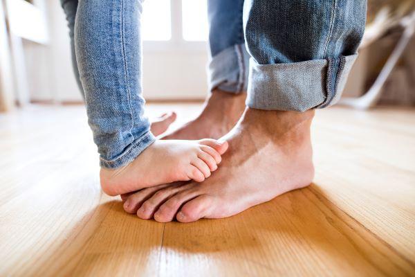 Incalzire in pardoseala parchet picioare goale