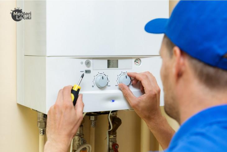 montaj centrala termica instalator albastru