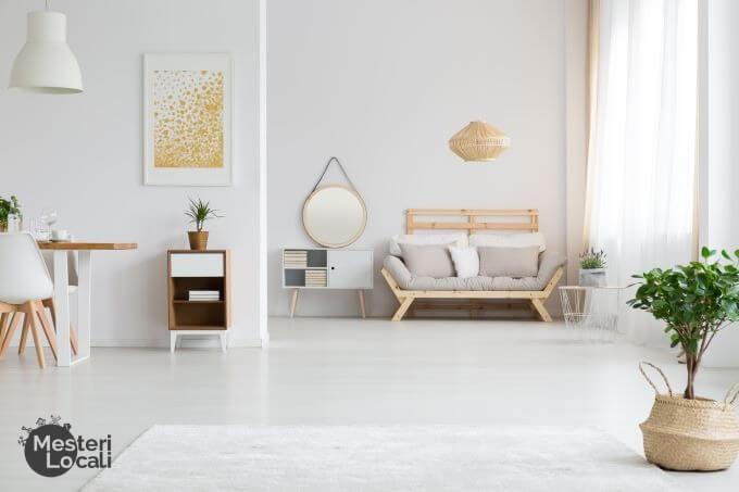 living room deschis open space canapea beige