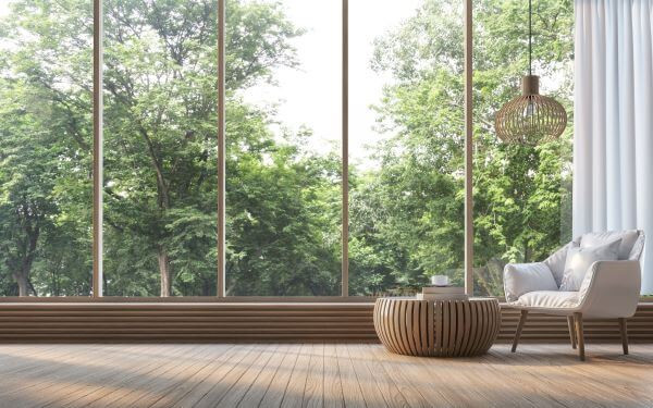 ferestre floor to ceiling natura mobila lemn