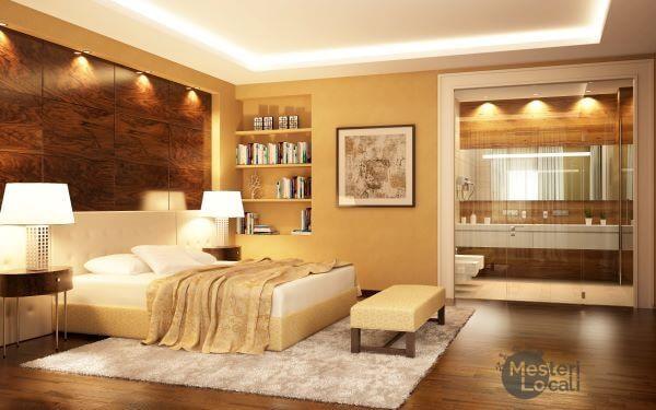 amenajare dormitor lumina corpuri de iluminat