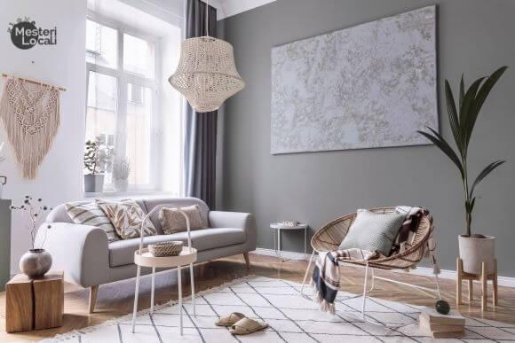 sufragerie minimalista planta scaun canapea
