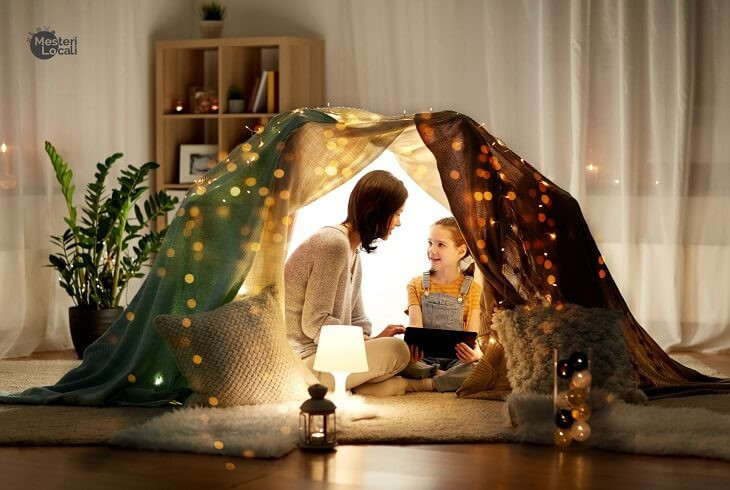 cort familie lumina ambientala living room veioza familie planta