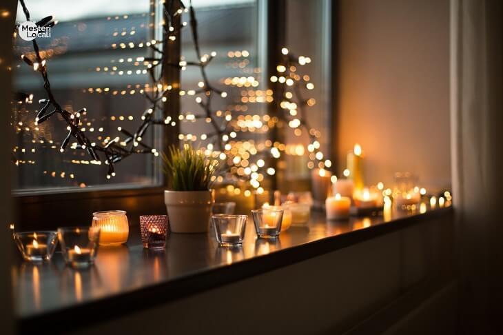 lumanari pervaz lumina ambientala difuza