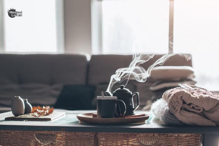hygge cana ceai fierbinte ceainic pulover
