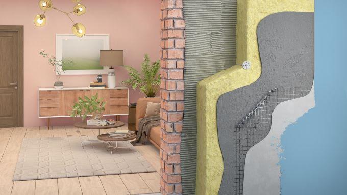 izolatie exterioara aplicare pe perete transversal